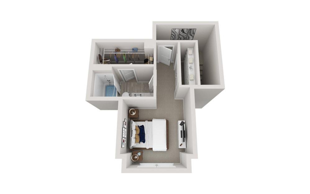 TH1 2 Bed 2.5 Bath Floorplan
